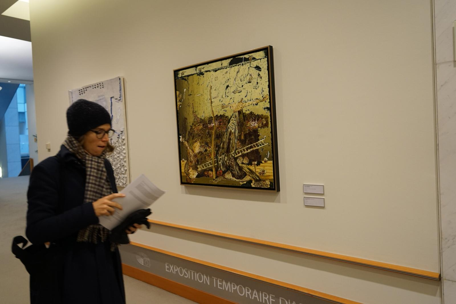 "Opening of the Presidency exhibition ""Art at EP, works of art from Romania"" in the presence of the Minister of Culture"
