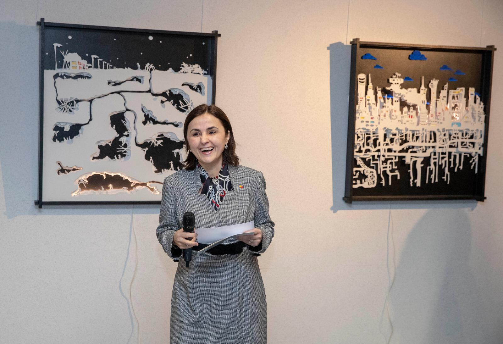 3D cut art Exhibition – Connexions, inaugurated in Brussels by the Romanian Presidency of the EU Council