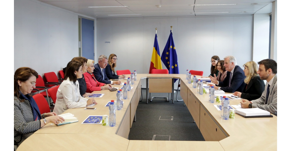 Prime Minister Viorica Dăncilă meets with the Brexit EU Chief negotiator Michel Barnier