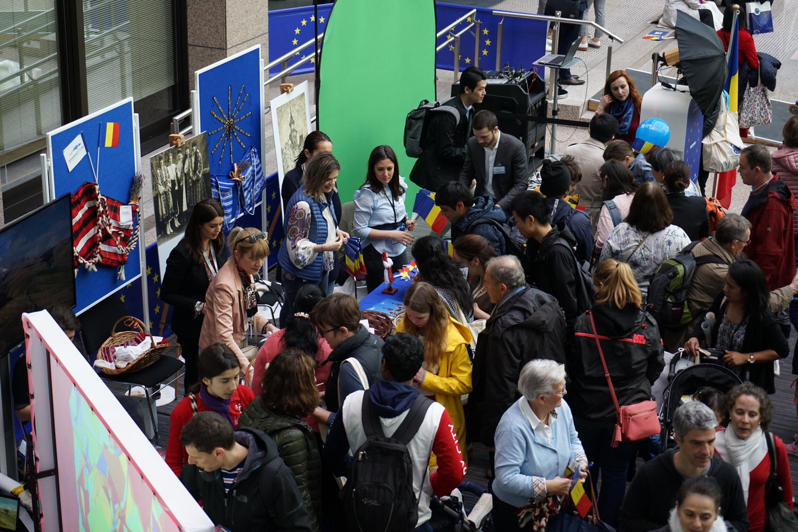 "Romania promoted at the ""Open Day"" of the European institutions in Brussels"